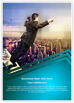 Businessman Suicide Jumping Editable Word Template
