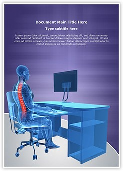 Correct Sitting Posture Editable Word Template