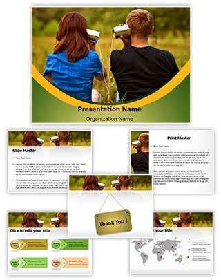 Telephone Invention Editable PowerPoint Template