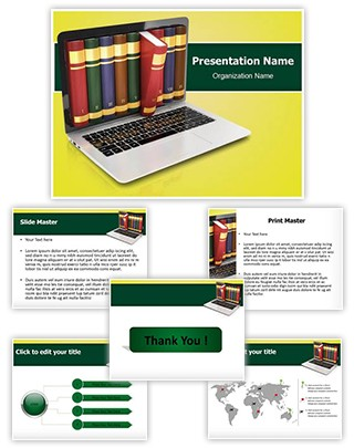 Online Library Editable PowerPoint Template