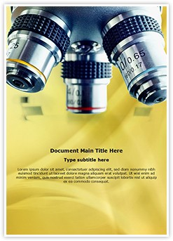 Laboratory Microscope Editable Word Template