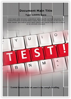 Test Words Editable Word Template