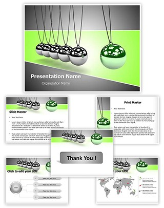 Newtons Cradle Editable PowerPoint Template
