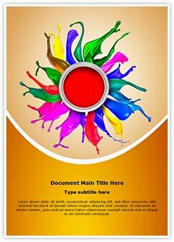 Colors Paint Splashing Editable Word Template