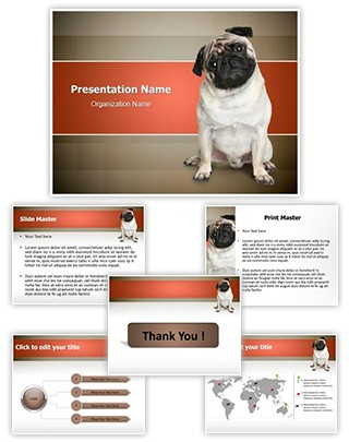 Pug Puppy Editable PowerPoint Template