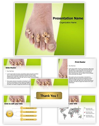 Foot Mycosis Editable PowerPoint Template