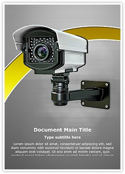 CCTV Security Camera Editable Word Template
