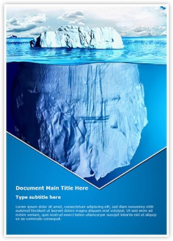 Floating Iceberg Editable Word Template