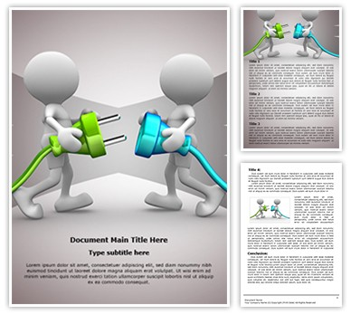Connecting Cable Editable Word Document Template