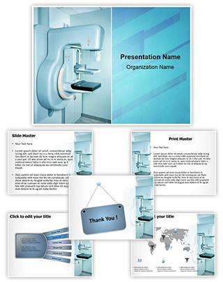 Mammography X Ray Machine Editable PowerPoint Template