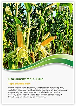 Corn Field Editable Word Template