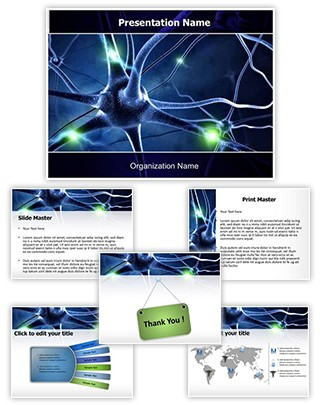 Neurology Powerpoint Presentation Template With Editable Charts