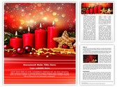 Advent Editable Word Template