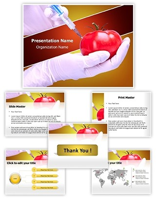 Food Generically Transformed Editable PowerPoint Template