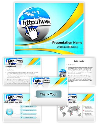 Internet Web Http Editable PowerPoint Template