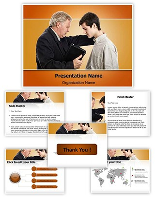 Pastor Praying Editable PowerPoint Template