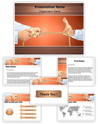 Pulling Rope Editable PowerPoint Template