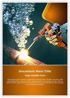 Underwater Welding Editable Word Template