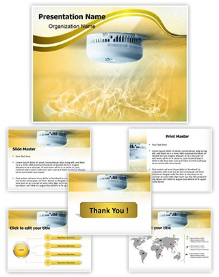 Smoke Detector Editable PowerPoint Template