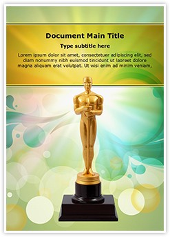 Oscar Cup Editable Word Template