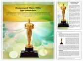 Oscar Cup Editable Word Template