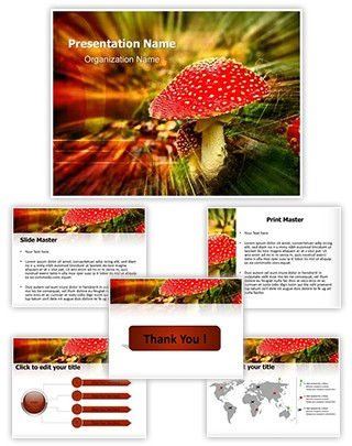 Amanita Poisonous Mushroom Editable PowerPoint Template