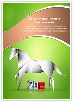 Horse Year Editable Word Template