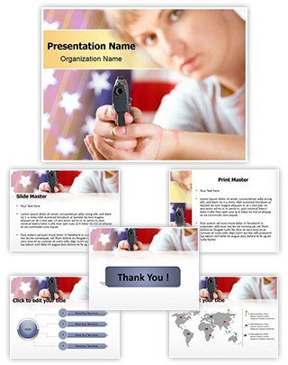 American Crime Editable PowerPoint Template