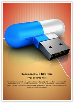 Flash Drive Editable Word Template