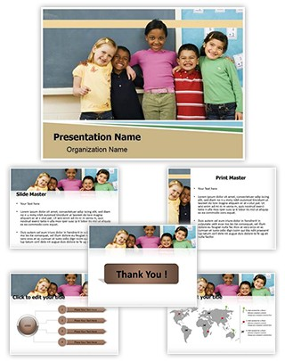 Diverse Kids Editable PowerPoint Template