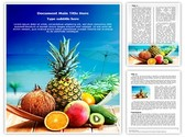 Fresh Fruits and Beach Template