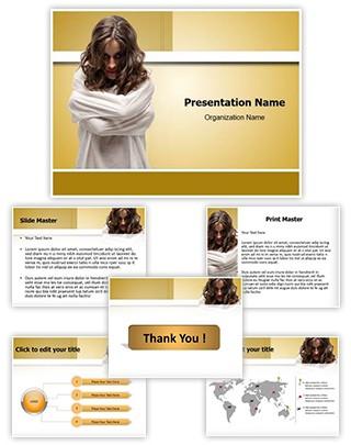 Insane Woman Editable PowerPoint Template