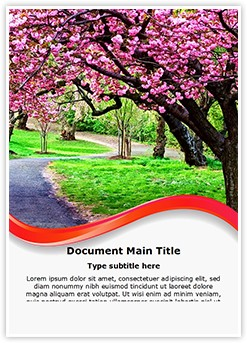 Blossoms Editable Word Template