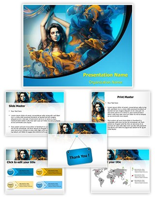 Clothing Art Editable PowerPoint Template