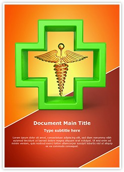 Healthcare Symbol Editable Word Template