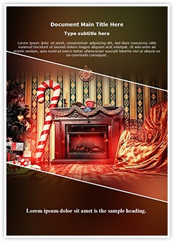 Christmas decoration Editable Word Template