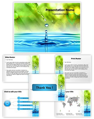 Drop Editable PowerPoint Template