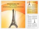 Eiffel Tower Statue Editable Word Template