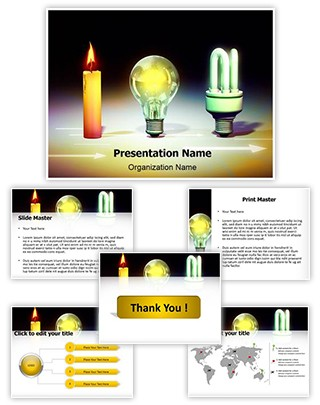 Evolution Of Light Editable PowerPoint Template