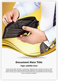 Empty Wallet Editable Word Template