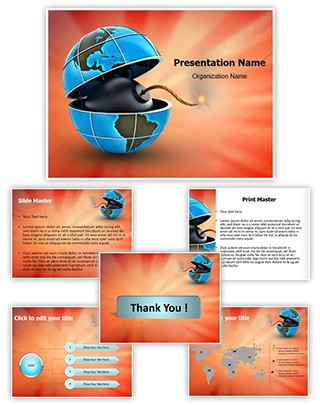 Global And Bomb Editable PowerPoint Template