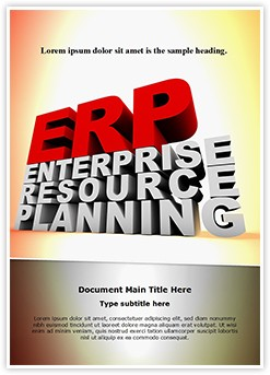 Enterprise Resource Planning Editable Word Template