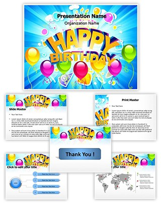 Happy Birthday Abstract Editable PowerPoint Template