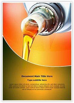 Industrial Engine Oil Editable Word Template