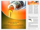 Industrial Engine Oil Editable PowerPoint Template
