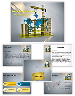 Construction World Editable PowerPoint Template
