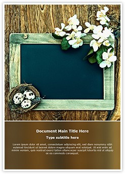 Chalkboard Nest Flowers Editable Word Template