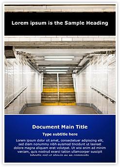New York Subway Editable Word Template