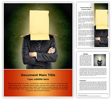 Hidden Identity Editable Word Document Template