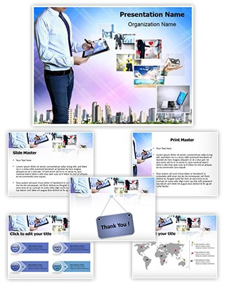 Hytech Businessman Editable PowerPoint Template